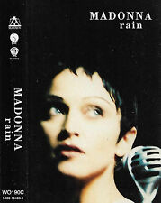 MADONNA RAIN CASSETTE SINGLE UK ISSUE Downtempo Synth-pop 1993 WO190C remix edit