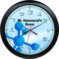 "Personalized Chemistry Teacher Gift 10.75"" Wall Clock Gift"