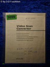 Sony Bedienungsanleitung VCO 200 Video Scan Converter (#3099)