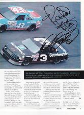 RICHARD PETTY & DALE EARNHARDT SR AUTOGRAPH SIGNED MAGAZINE PAGE REPRINT! NASCAR