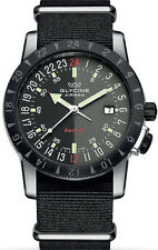 Glycine Men's 3887.309-66 TB9 Airman Base 22 Purist Automatic Black/Gray Dial