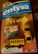 entyva entertainment & values construction set of 3 cars truck,car,& helicopter