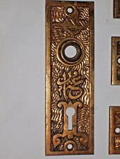 Antique Mallory and wheeler & Co. Eastlake Era Door Knob Backplates M&W Co. 4406
