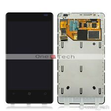 New Black Nokia Lumia 800 LCD Display Touch Digitizer Screen Assembly with Frame
