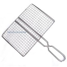 Barbecue Grill BBQ Net Mesh Handle Wire Clamp Stainless Steel  Picnic Outdoor