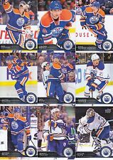 2014-15 Upper Deck Edmonton Oilers Complete Series 1 & 2 Team Set - 15 Cards