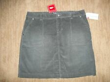 The NORTH FACE Graphite Gray NENANA Cord CORDUROY SKIRT  womens S SMALL $65 NEW