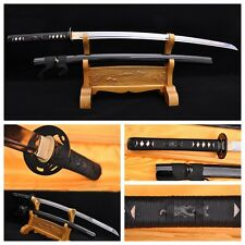 JAPANESE SAMURAI SWORD KATANA FOLDED HIGH CARBON STEEL RAZOR SHARP BATTLE READY