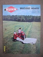 HTF Vintage Original Kuhn Saverne France Multidisc Mower GMD Flyer