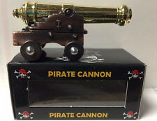 "NAVAL PIRATE CANNON WITH BRASS PLATED BARREL 2 3/4"" LONG 1"" HIGH REPRODUCTION"