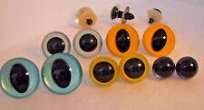 5 PAIR Safety Eyes Unique Hand Painted 12mm to 20mm Teddy Bear Doll, Sew, Dragon
