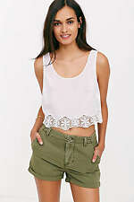 NWT AUTHENTIC Urban Outfitters BDG Hip-Slung Utility Short  Olive Green  Size 26