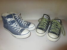 lot 2 x CONVERSE ALL-STAR bleu noir canvas toile USA 7 40