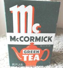 "Rare Vintage Shilling ""McCormick Green Tea"" Full Box Unopened Box"