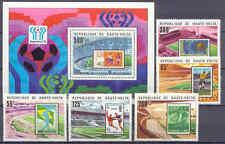 Fußball-WM 1978, Soccer - Obervolta - 700-704, Bl.48 ** MNH