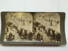 Vintage Stereoscopic Slide Jews Wailing Wall Place Solomons Temple Jerusalem