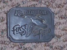 Remington First in Flight Belt Buckle, Canada Goose, 1980