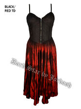 Jordash Dark Star Red & Black Zip Bodice Long Dress Full Skirt Goth Pagan XXL