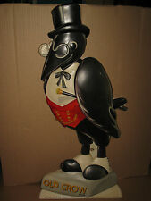 """Vintage OLD CROW Whiskey 30"""" Puffed Plastic Advertising Store Bar Display Sign"""