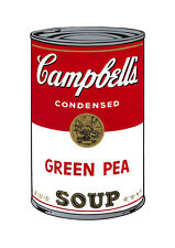 Soup Can Series #1 Green Pea by Andy Warhol A2 High Quality Canvas Print