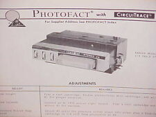 1971 RANGER CAR AUTO 4/8-TRACK STEREO TAPE PLAYER SERVICE MANUAL MODEL RR-42-FT