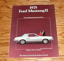 Original 1975 Ford Mustang II Sales Brochure 75 Mach 1 Hardtop GHIA