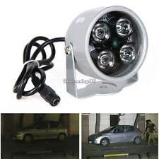 12V Night Vision IR Infrared Illuminator 4LED Light Lamp White for CCTV Camera