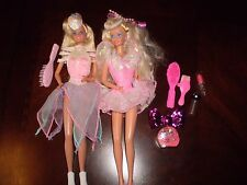 Vtg 1989 Ice Capades Barbie Doll  & 1991 Pretty Surprise Barbie Excellent