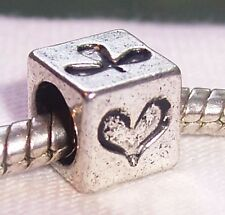 Poker Card Games Casino Hearts Bridge Bead fits Silver European Charm Bracelets