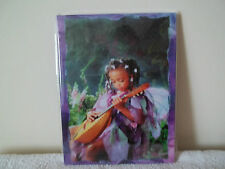 Beautiful Ethnic Angel Playing A Lute Canvas New &Sealed Fab!!