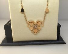 CHOPARD AMORE HEART ROSE GOLD & DIAMOND NECKLACE 807219-5001 NEW $5,230 RETAIL