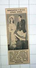 1939 Newcastle Ywca Comic Opera Lilian Young Mr Wilson Dixon