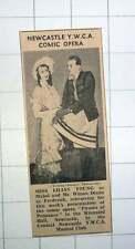 1939 Newcastle Ywca Comic Opera Lilian Young Mr Wilson Dixon