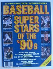 "1990 ""Baseball Super Stars of '90s"" Magazine: 25 Full-Page Color Action Posters"