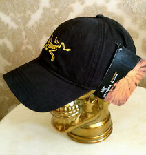 ARC'TERYX® CAP BASEBALL LOGO HAT BLACK NEW IN  PRE CURVED PEAK FULLY ADJUSTABLE