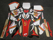YAMAHA YZF450 2010-2013 One Industries white retro old school 90's graphics 1G04