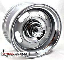 "2) 17x9"" ALUMINUM GRAY REV CLASSIC 107 RALLY WHEELS FOR CHEVROLET C10 1971 1972"