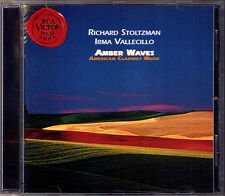 Richard STOLTZMAN AMBER WAVES Gershwin Bernstein McKinley Rowles Clare Fisher CD
