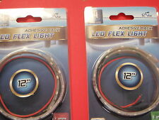LED FLEX STRIP LIGHT GREEN LED51949DP 12 INCH CAN BE CUT TO LENTH 2 PAC SALE