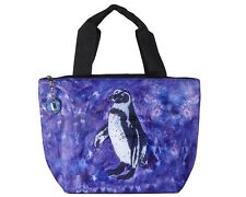 Penguin Lunch Bag Tote by Salvador Kitti - Support Wildlife Conservation, Read