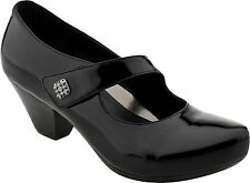 New DANSKO BETTY BLACK LEATHER PUMPS WITH STRAP 7.5 - 8 M, EU 38