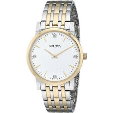 Bulova Men's 98D114 Diamond Dial Dress Watch