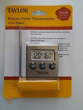 New Taylor Remote Probe Digital Thermometer with Timer
