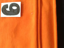 Orange cotton lycra fabric remnant (4-way stretch) For active/dance wear (006)