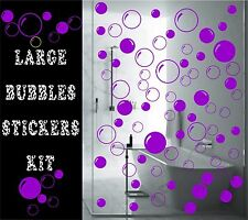 Bathroom Bubbles Tiles Stickers Large Decals Vinyl Graphics Waterproof Adhesive