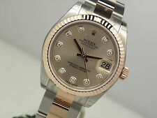 Rolex Midsize DATEJUST 178271 Steel & Rose Gold Pink Diamond Dial Oyster 31MM