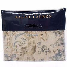 RALPH LAUREN Corso Campania KING DUVET COVER NWT Floral Scroll COTTON Blue Navy