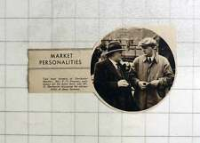 1937 Dorchester Market Farmers, Pf Parsons, H Boatswain In Discussion