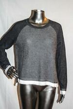 Womans RAG & BONE Gray Black & White Wool Cotton Pullover Sweater Size L