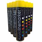 (PACK OF 12) Large 750ml YELLOW Line Marking Spray paint survey builders marker